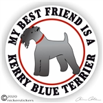 Funny Kerry Blue Terrier Dog Window Car Truck RV Decal Sticker