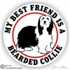 Bearded Collie Dog Beardie Vinyl Car Truck RV iPad Window Decal Sticker Static Cling