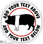 Custom Hampshire Pig Decal Sticker Static Cling