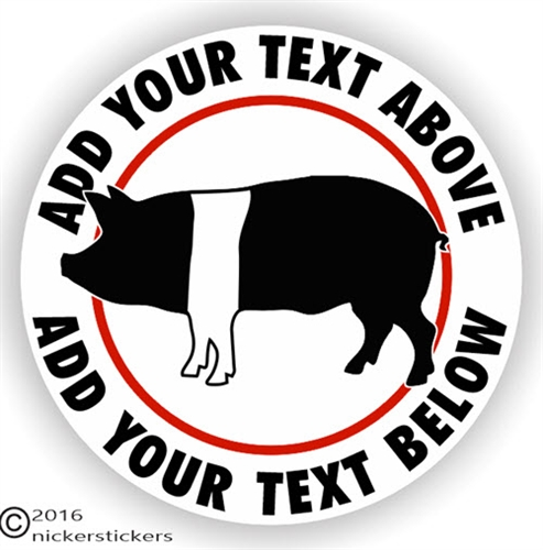 Custom decal sticker with your name and location Hog Farm