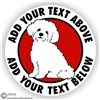Custom Shichon Sticker Static Cling Decal