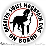 Greater Swiss Mountain Dog Sticker Decal Static Cling
