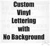 Customized text vinyl lettering custom text decal sticker