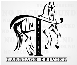 Custom Tanglao Carriage Driving Decal Horse Trailer Car Truck RV Window Decal Sticker