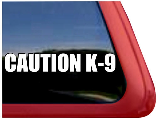 Caution k9 dog window decal sticker · larger photo email a friend