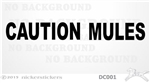 Caution Mules Horse Trailer Window Decal