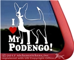 Portuguese Podenga Dog Window Decal
