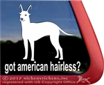 American Hairless Terrier Window Decal