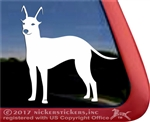 Custom American Hairless Terrier Dog Car Truck RV Window Decal Sticker