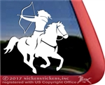 Mounted Archery Horse Trailer Window Decal