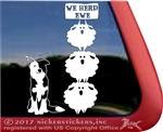 We Herd Ewe Border Collie Herding Vinyl Dog Car Truck RV Window Decal Sticker