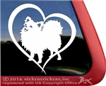 Pom Love Heart Pomeranian Dog Car Truck RV Window Decal Sticker