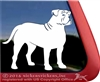 Custom American Bulldog Dog Car Truck RV Window Decal Sticker
