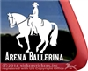 Western Dressage Horse Trailer Window Decal Sticker