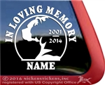 Boxer Memorial Dog Decal Sticker Car Auto Window iPad