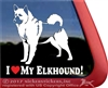 Norwegian Elkhound Dog Vinyl Car Truck RV Tablet Decal Sticker