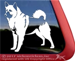 Norwegian Elkhound Dog Truck Car RV Window iPad Tablet Laptop Decal Sticker
