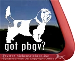 Petit Basset Griffon Vendeen Dog Car Truck RV Window Decal Sticker