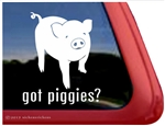 Pig Window Decal