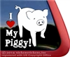 I Love My Piggy Car Truck RV Window Decal Sticker