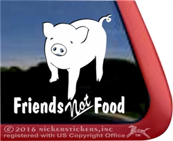 Friends Not Foot Pet Piggy Car Truck RV Window Decal Sticker