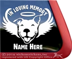 American Pit Bull Terrier Angel Memorial  Car Truck RV Window Decal Sticker
