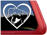 Custom Dachshund Heart Love Dog Car Truck RV Window Decal Sticker