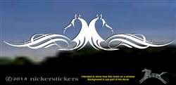 Horse Head Flourish Calligraphy Horse Trailer Car Truck RV Window Decal Stickerker