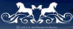 Horse Head Flourish Calligraphy Horse Shoe Horse Trailer Car Truck RV Window Decal Sticker