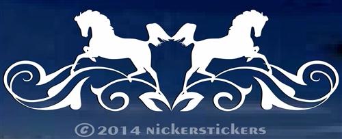 Horse Head Flourish Decals  Stickers NickerStickers - Truck horse decals