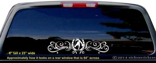 Horse Head Flourish Decals  Stickers NickerStickers - Truck decals for back window
