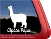 Suri Alpaca Car Truck RV Window Decal Sticker