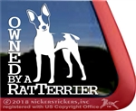 Rat Terrier Dog Truck Car RV iPad Laptop Window Decal Sticker