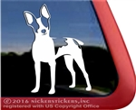 Custom Rat Terrier Dog Car Truck RV Window Decal Sticker