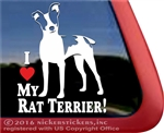 Rat Terrier Window Decal