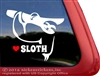 Sloth Window Decal