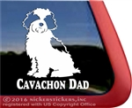 Cavachon Dad Dog Car Truck RV Window Decal Sticker