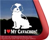 I Love My Cavachon Dog Car Truck RV Window Decal Sticker