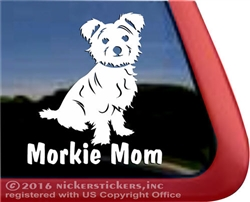 Morkie Dog Car Truck RV Window Decal Sticker
