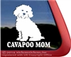 Cavapoo Mom Dog Car Truck RV Window Decal Sticker