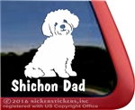 Shishon Dad Teddy Bear Dog Car Truck RV Window Decal Sticker