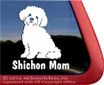 Shishon Mom Teddy Bear Dog Car Truck RV Window Decal Sticker