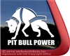 Weight Pulling Pit Bull Power Car Truck RV Vinyl Window Decal Sticker