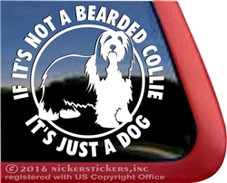 Bearded Collie Dog Beardie Vinyl iPad Car Truck RV Window Decal Sticker