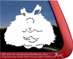 Angora Rabbit Car Truck RV Window Decal Sticker