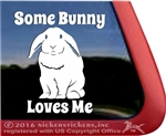 Some Bunny Loves Me Lop Earred Rabbit Window Decal