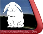 Lop Earred Rabbit Car Truck RV Window Decal Sticker