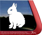 Custom Dwarf Rabbit Car Truck RV Window Decal Sticker