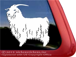 Custom Angora Goat Car Truck RV Trailer Window Decal Sticker