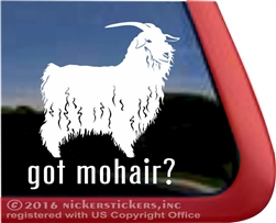 Angora Goat Window Decal